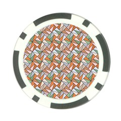 Allover Graphic Brown Poker Chip (10 Pack)