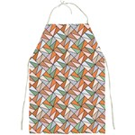 Allover Graphic Brown Apron Front