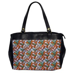 Allover Graphic Brown Oversize Office Handbag (One Side)