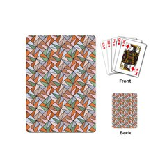 Allover Graphic Brown Playing Cards (mini)