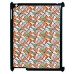 Allover Graphic Brown Apple iPad 2 Case (Black) Front