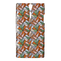 Allover Graphic Brown Sony Xperia S Hardshell Case