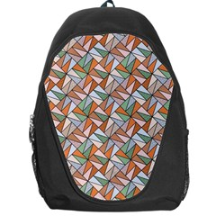 Allover Graphic Brown Backpack Bag