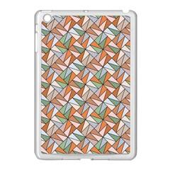 Allover Graphic Brown Apple iPad Mini Case (White)