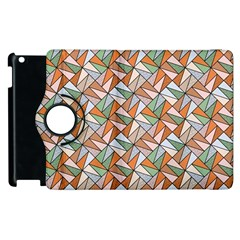 Allover Graphic Brown Apple iPad 2 Flip 360 Case