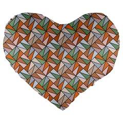 Allover Graphic Brown 19  Premium Heart Shape Cushion