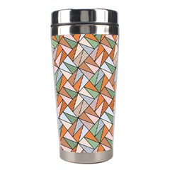 Allover Graphic Brown Stainless Steel Travel Tumbler