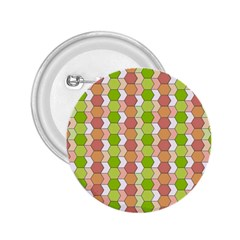 Allover Graphic Red Green 2.25  Button