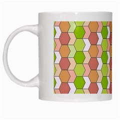 Allover Graphic Red Green White Coffee Mug