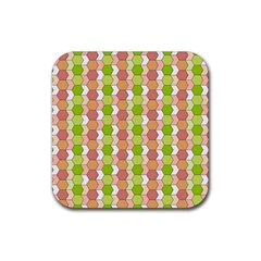 Allover Graphic Red Green Drink Coaster (Square)