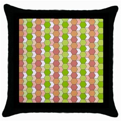 Allover Graphic Red Green Black Throw Pillow Case