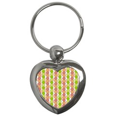 Allover Graphic Red Green Key Chain (Heart)