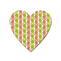 Allover Graphic Red Green Magnet (Heart)