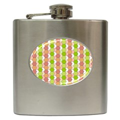Allover Graphic Red Green Hip Flask