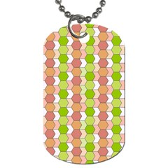 Allover Graphic Red Green Dog Tag (two Sided)