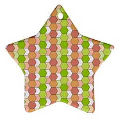 Allover Graphic Red Green Star Ornament (Two Sides)