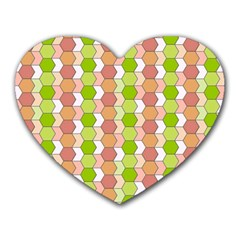Allover Graphic Red Green Mouse Pad (heart)