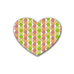 Allover Graphic Red Green Drink Coasters 4 Pack (heart)