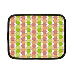 Allover Graphic Red Green Netbook Sleeve (Small)
