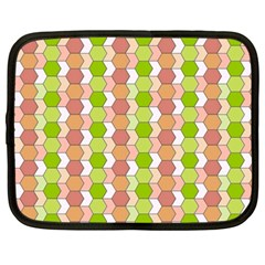 Allover Graphic Red Green Netbook Sleeve (Large)