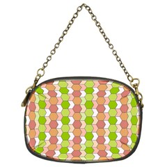 Allover Graphic Red Green Chain Purse (Two Sided)