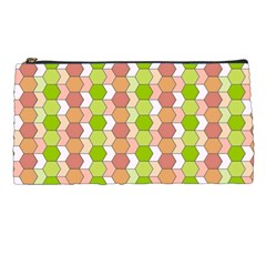 Allover Graphic Red Green Pencil Case