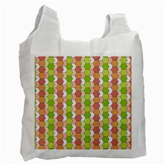 Allover Graphic Red Green Recycle Bag (two Sides)