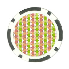 Allover Graphic Red Green Poker Chip (10 Pack)
