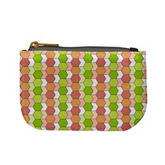 Allover Graphic Red Green Coin Change Purse