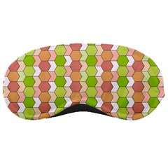 Allover Graphic Red Green Sleeping Mask