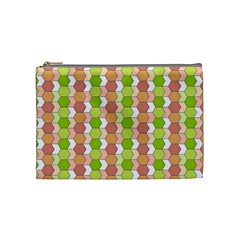 Allover Graphic Red Green Cosmetic Bag (medium)