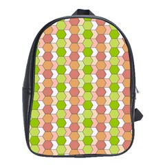 Allover Graphic Red Green School Bag (Large)