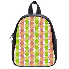 Allover Graphic Red Green School Bag (Small)