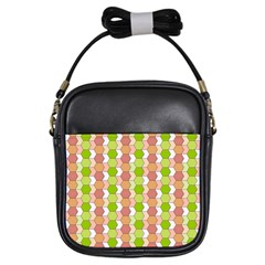 Allover Graphic Red Green Girl s Sling Bag