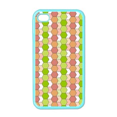Allover Graphic Red Green Apple iPhone 4 Case (Color)
