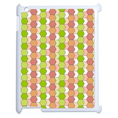 Allover Graphic Red Green Apple iPad 2 Case (White)