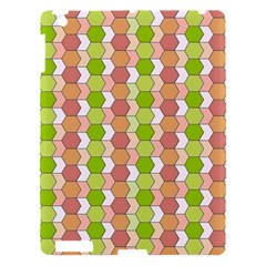 Allover Graphic Red Green Apple iPad 3/4 Hardshell Case