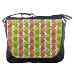 Allover Graphic Red Green Messenger Bag