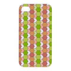Allover Graphic Red Green Apple iPhone 4/4S Premium Hardshell Case