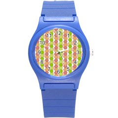 Allover Graphic Red Green Plastic Sport Watch (Small)
