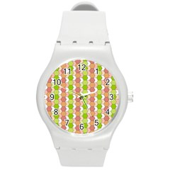 Allover Graphic Red Green Plastic Sport Watch (Medium)