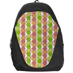 Allover Graphic Red Green Backpack Bag