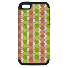 Allover Graphic Red Green Apple iPhone 5 Hardshell Case (PC+Silicone)