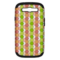 Allover Graphic Red Green Samsung Galaxy S III Hardshell Case (PC+Silicone)