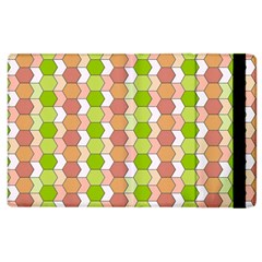 Allover Graphic Red Green Apple iPad 3/4 Flip Case