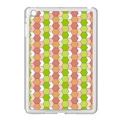 Allover Graphic Red Green Apple iPad Mini Case (White)