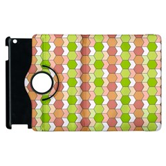 Allover Graphic Red Green Apple iPad 2 Flip 360 Case
