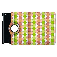 Allover Graphic Red Green Apple Ipad 3/4 Flip 360 Case