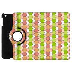 Allover Graphic Red Green Apple iPad Mini Flip 360 Case