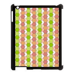 Allover Graphic Red Green Apple iPad 3/4 Case (Black)